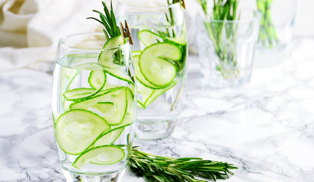 Vegan Cucumber-Rosemary Lemonade