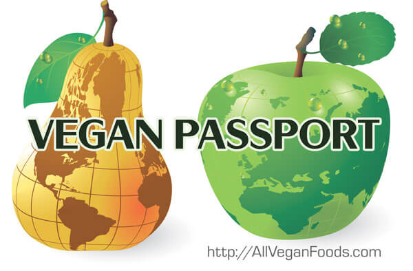 vegan travel passport