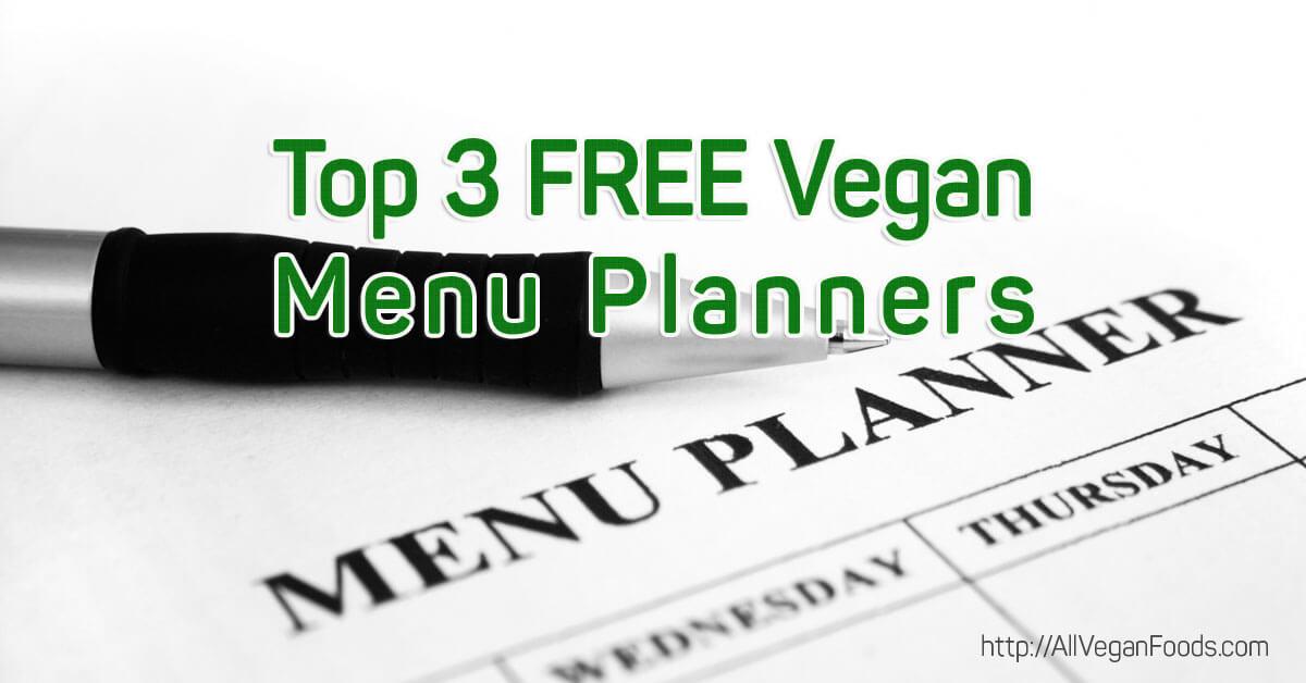 Top 3 free vegan menu planners
