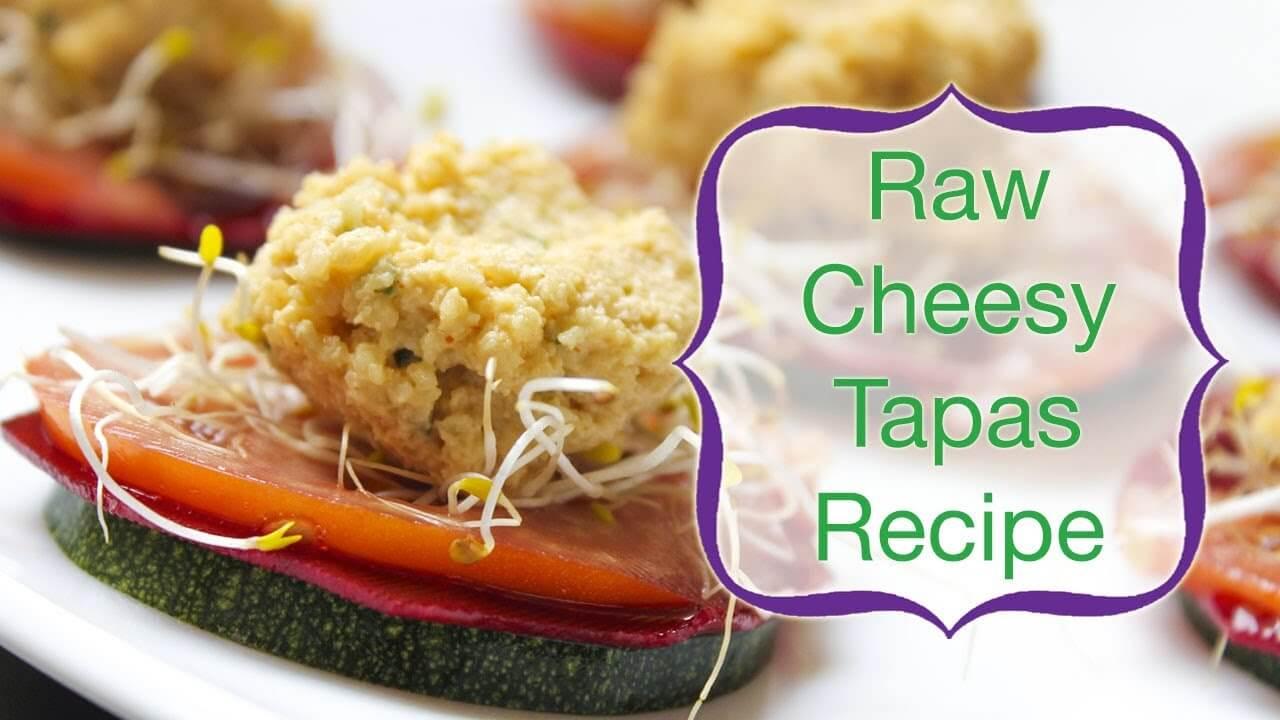 Raw vegan cheesy tapas.