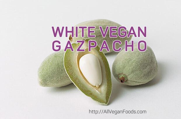 Healing vegan white gazpacho