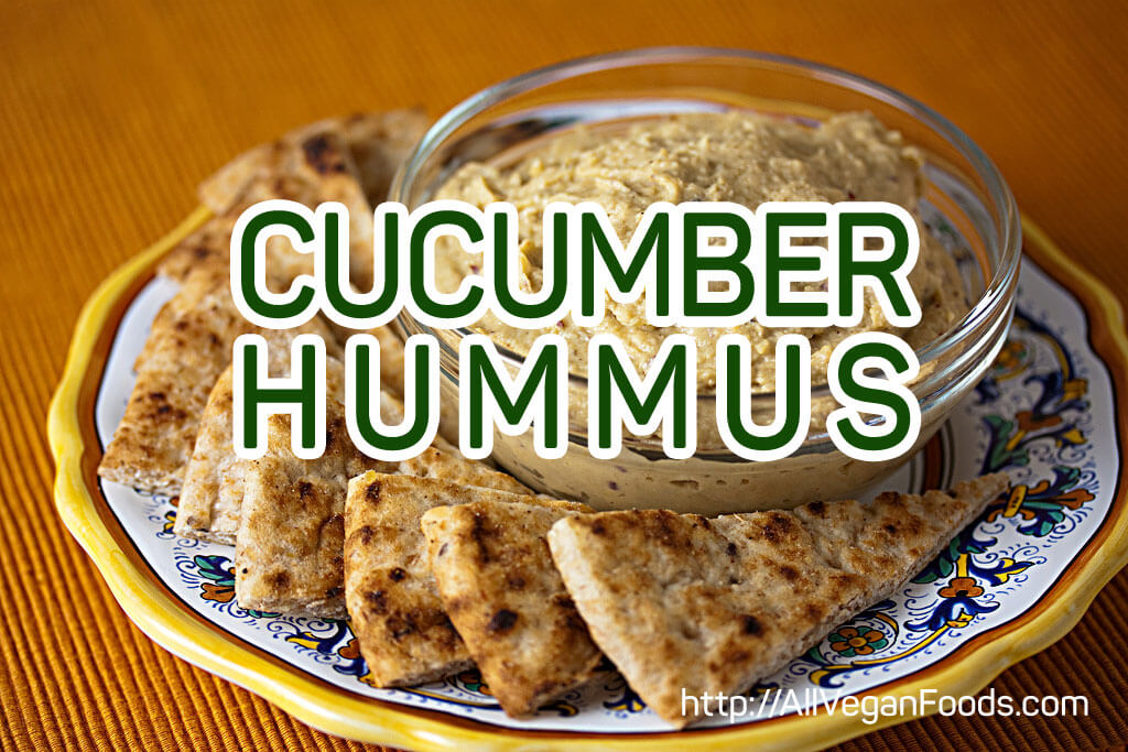 Cool Cucumber hummus with chives