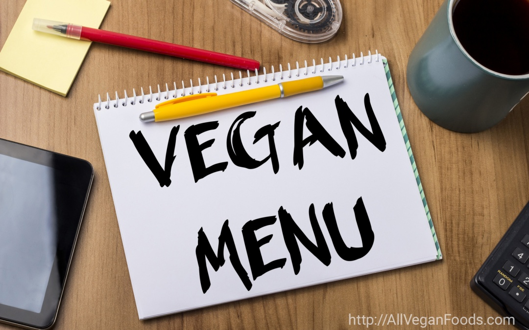 VEgan menu in three easy steps
