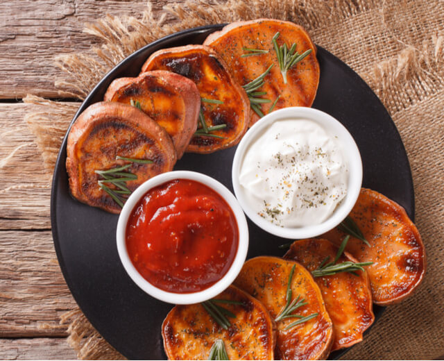 Grilled Sweet Potatoes at All Vegan Foods