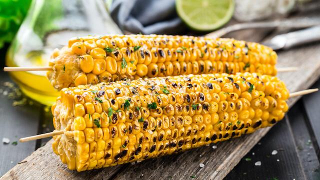 BBQ Sweetcorn corn at Allveganfoods