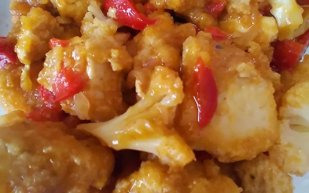 General Tso's tofu created as a festive holiday recipe