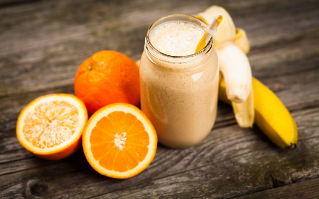 Orange protein smoothie, my #1 happy drink